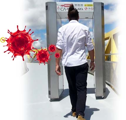 Túnel desactivador COVID19 - CAVID libera pandemia
